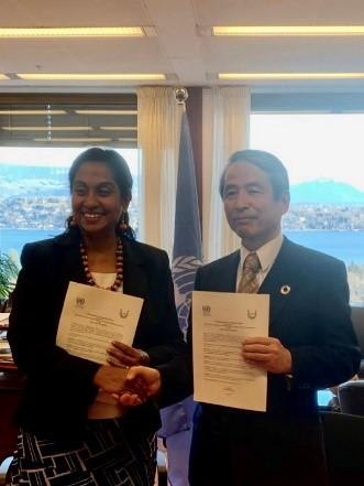 Ms. Shamika N. SIRIMANNE (left) and President Makino