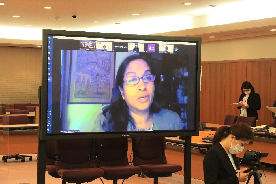 シャミカ・シリマンUNCTADテクノロジー・ロジスティクス局長による挨拶の様子