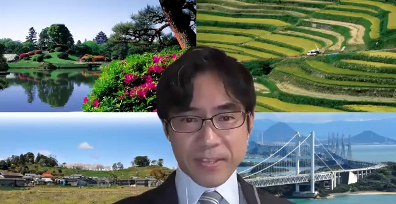 あいさつする横井副学長
