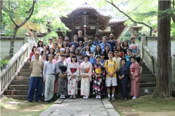松琴寺での集合写真