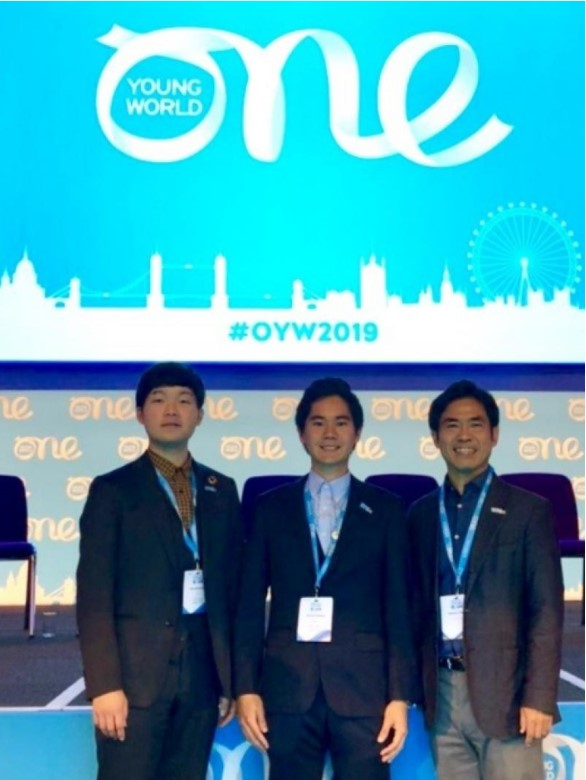 左から、松本さん、喜舎場さん、横井副学長