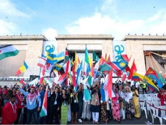 開会式が行われたボリバル広場