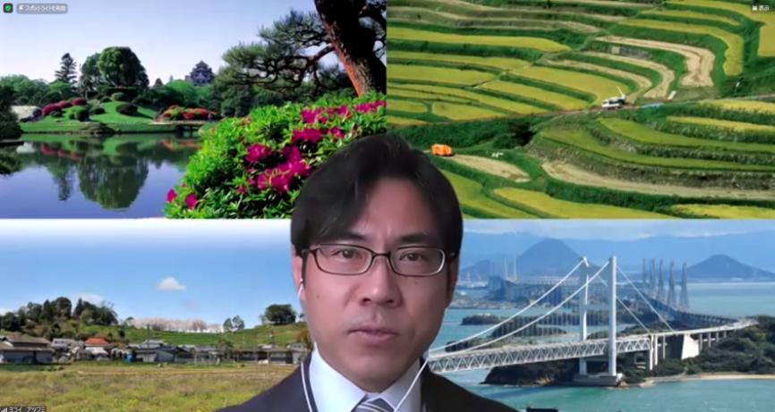 横井上席副学長・ユネスコチェアホルダーによる閉講のあいさつ